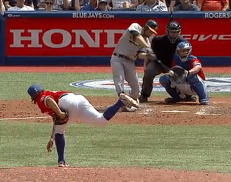 Brandon Moss homers off R.A. Dickey knuckle-ball