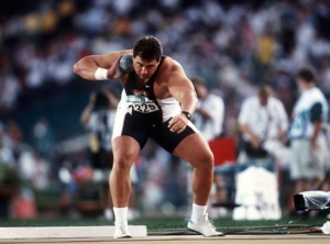Gold medal winning Shot Putter Randy Barnes