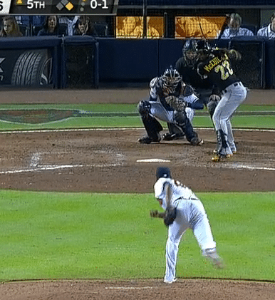 Andrew McCutchen 'Showing his Numbers' to the Pitcher