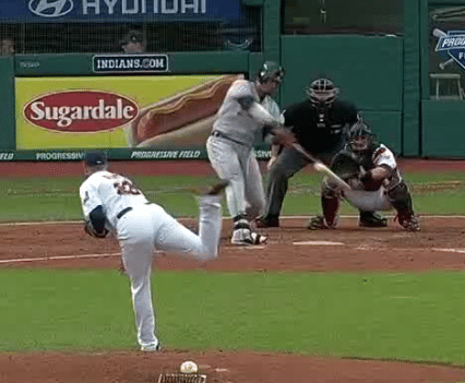 Victor Martinez just before impact