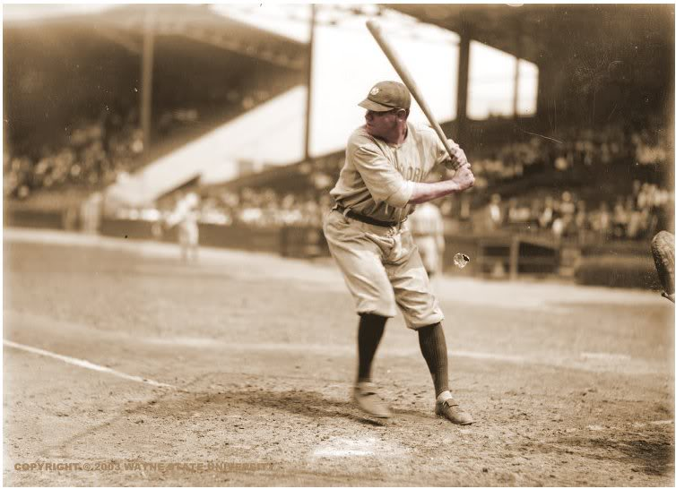 Babe Ruth Reveals Hand Tension?