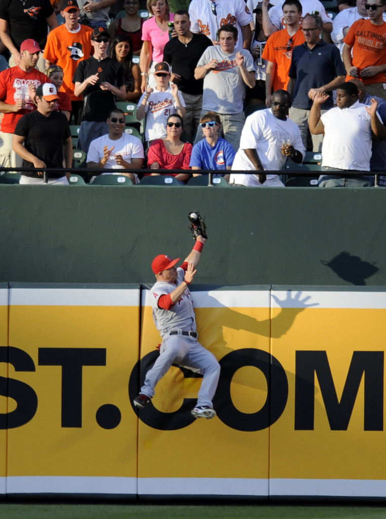 Mike Trout Robbing a Home-Run