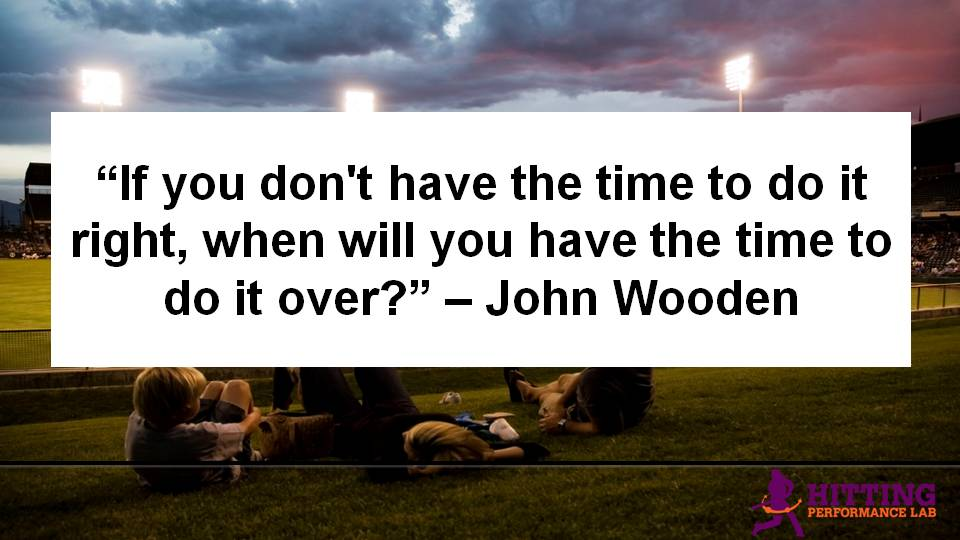 Baseball Batting Quotes: John Wooden
