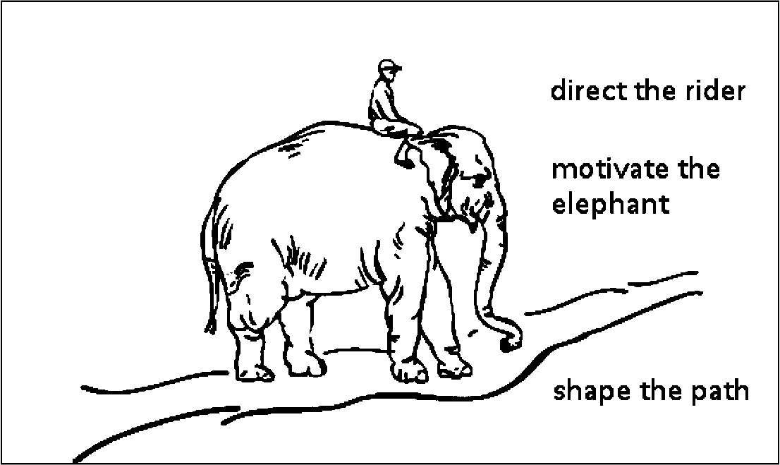 Optimize Learning at Home: Rider, Elephant, & Path metaphor