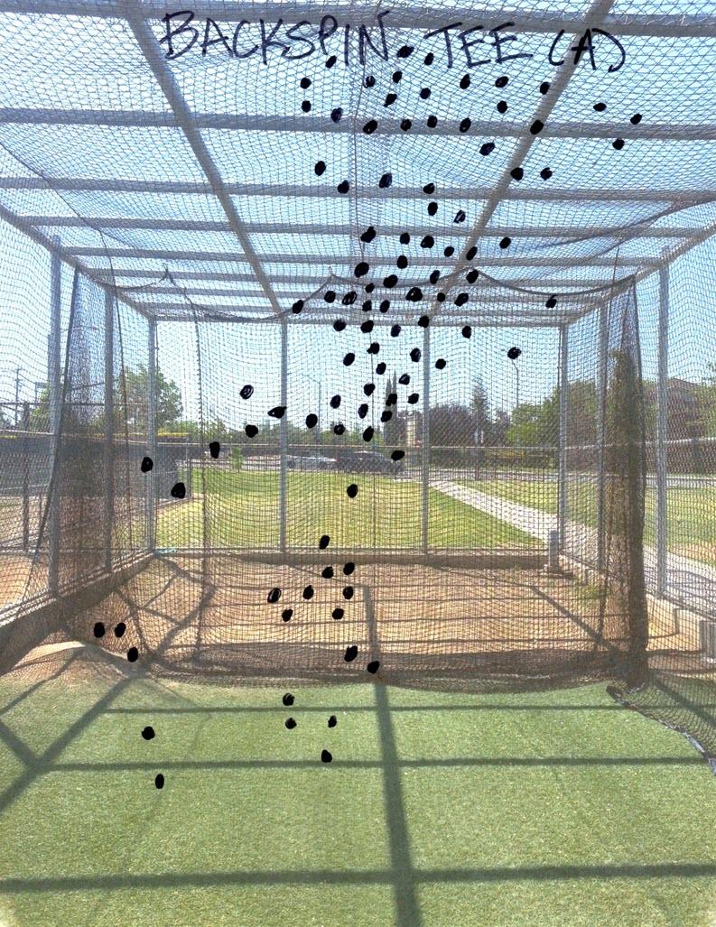 Baseball Batting Cage Drills: BackSpin Tee Spray Chart