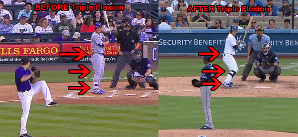Baseball Batting Stance: Joc Pederson 2015 BEFORE/AFTER change