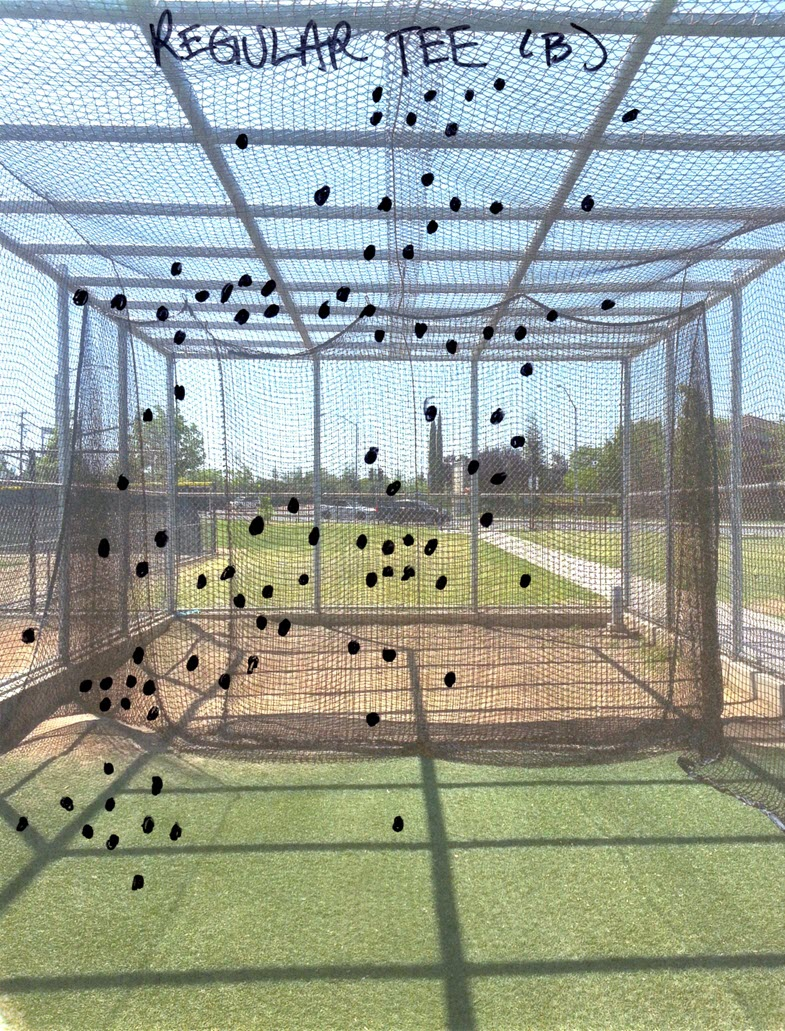 Baseball Batting Cage Drills: Conventional (Regular) Tee