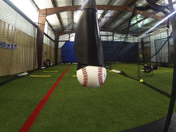 Baseball Batting Cage Drills: Backspin Tee