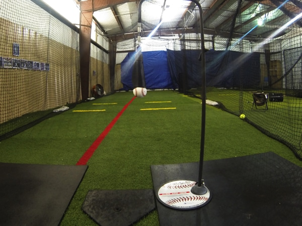 Baseball Batting Cage Drills: Backspin Tee