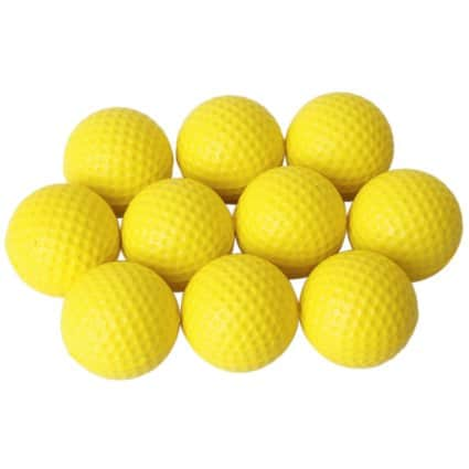 Effective Velocity: Golf Sized Foam Balls