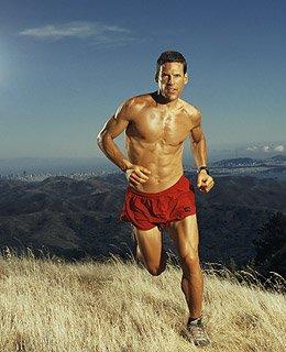 ca. February 2005 --- Ultramarathon Runner Dean Karnazes --- Image by © Patrik Giardino/Corbis Outline