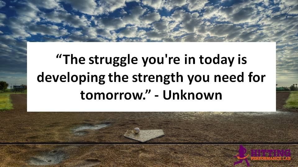Struggle in Today Developing Strength for Tomorrow Quote