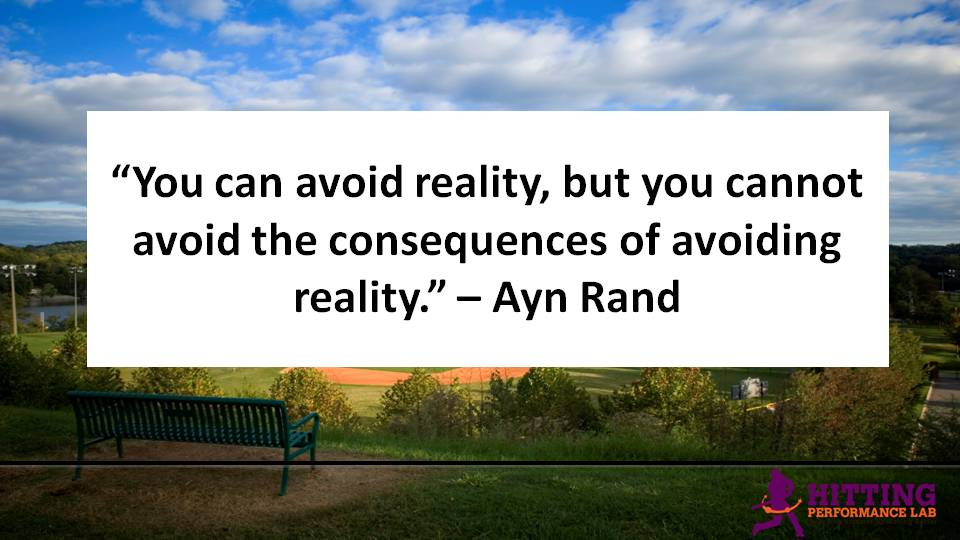 Ayn Rand Avoiding Reality Quote