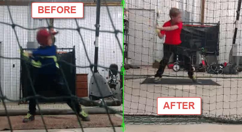 Baseball Swing Mechanics Slow Motion: Thomas P. 4 month Case Study