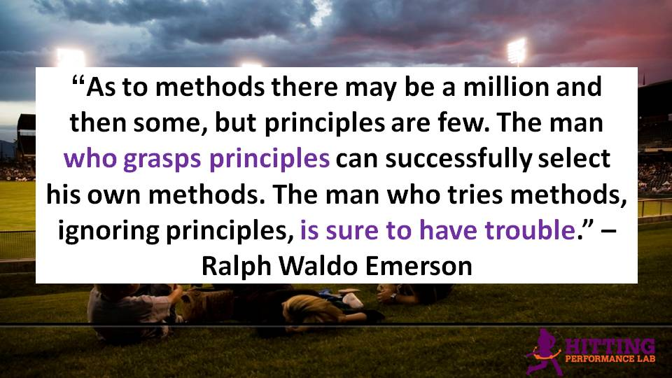 Principles are Few: Ralph Waldo Emerson quote