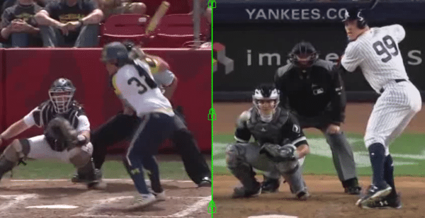 Sierra Romero v. Aaron Judge Hitting Analysis Swing Comparison