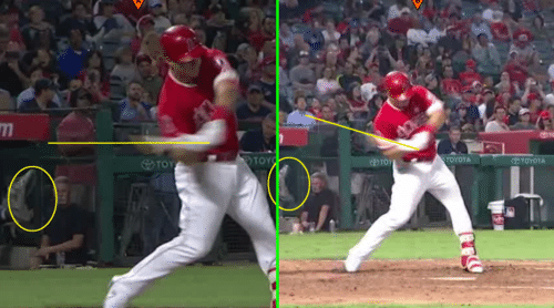 Mike Trout Swing Case Study: Hitting The Catcher's Glove