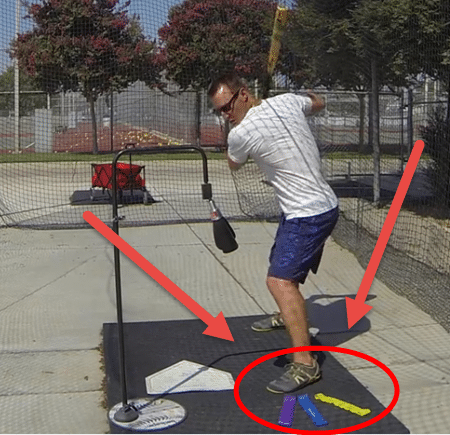 Baseball Stride Drills: Stepping in Bucket Drill Using Bands
