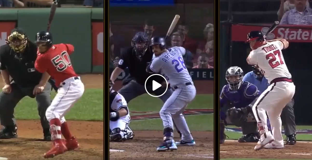 Best Hitters Baseball Swings: Mookie Betts, Nolan Arenado, & Mike Trout