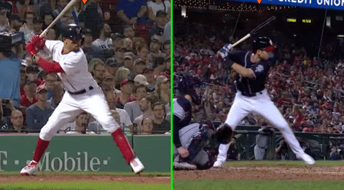Mookie Betts Swing Analysis Comparing Trea Turner