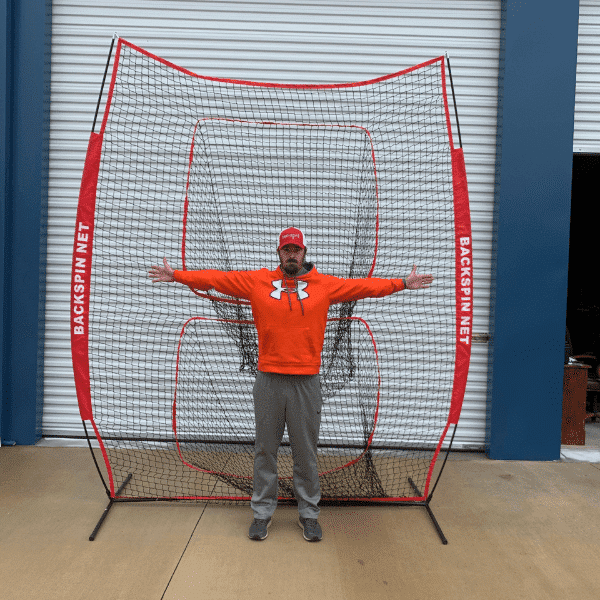 Baseball Hitting Net: Backspin Tee